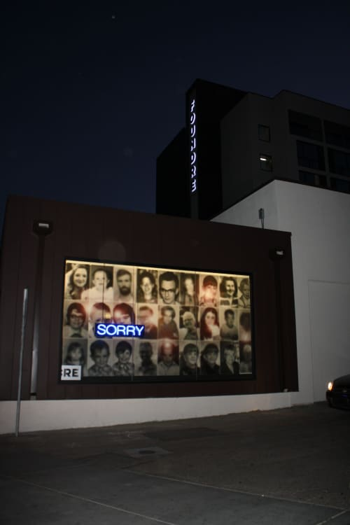"Photography by Ronna Nemitz seen at FOUND:RE Phoenix Hotel, Phoenix - ""SORRY"""