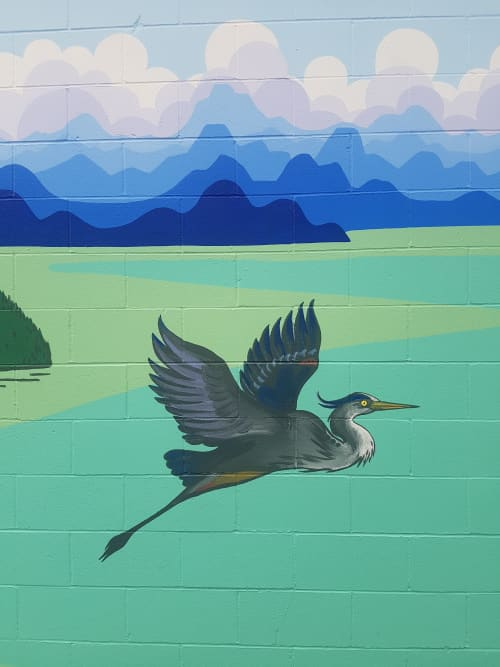 Murals by Liesl • Design Paint Mural seen at Squamish, Squamish - First and a half ave