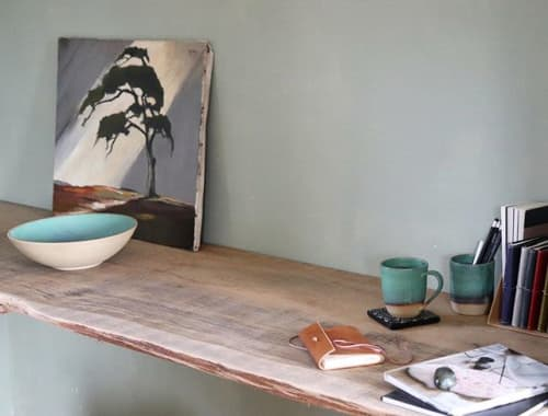 Tableware set in Emerald glaze   Ceramic Plates by Ceramics by Charlotte   Private Residence in Maffe