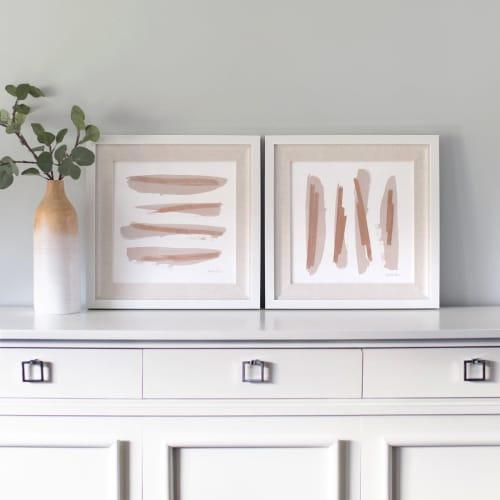 Zen Brush No. 6 - Embellished Print Horizontal   Paintings by Julia Contacessi Fine Art