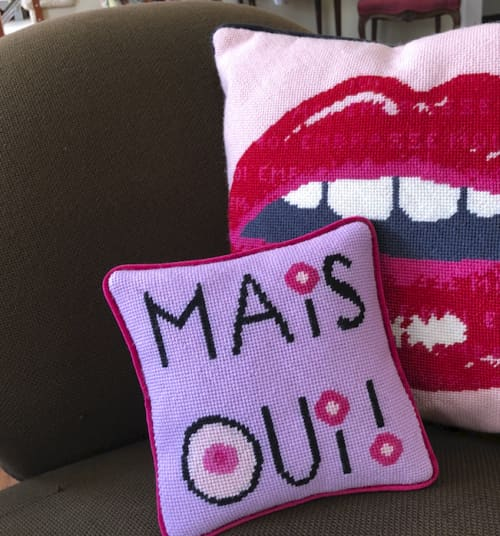 Pillows by Mommani Threads seen at Private Residence, Blowing Rock - MAIS OUI! organic cotton sateen pillow / custom made