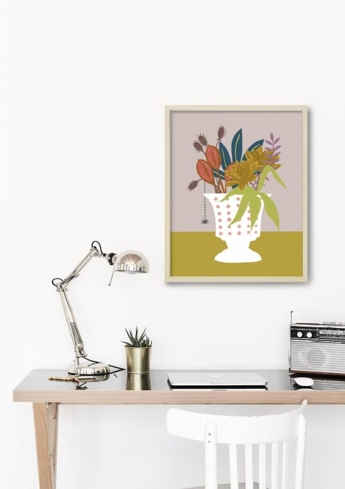 Paintings by Birdsong Prints seen at Creator's Studio, Denver - Floral Illustration, Modern Art Print