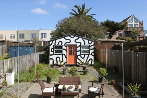Murals by Nicole Pannuzzo seen at Private Residence, San Francisco - Ocean Beach Backyard Mural