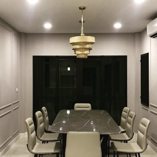 Pendants by PATAPiAN seen at Private Residence, Bangkok - Beehive Pendant Lights