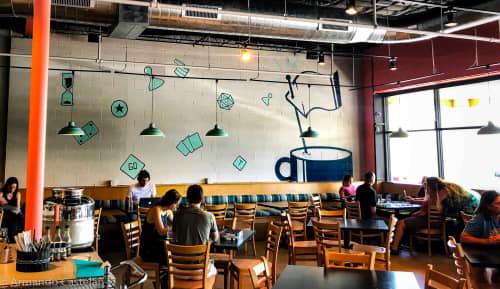 Tea+ Victory Board Game Cafe   Murals by Armando