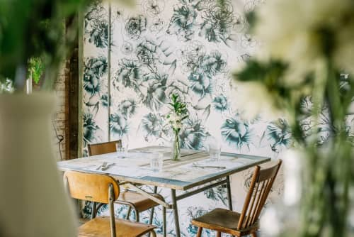 Custom Prints | Wallpaper by Candice Kaye Design | Maman Cafe in New York