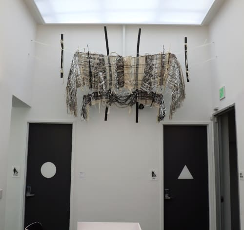 """Wall Hangings by Kira Dominguez Hultgren seen at California College of the Arts, Oakland - """"Across_3: Post-Party"""" Wall Hanging"""