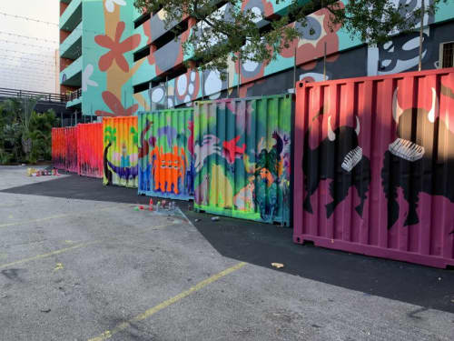 Paintings by Sebastian Boesmi - Microtheather of Miami