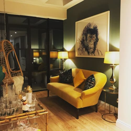 Paintings by Dave White seen at Private Residence, London - Gorilla Painting