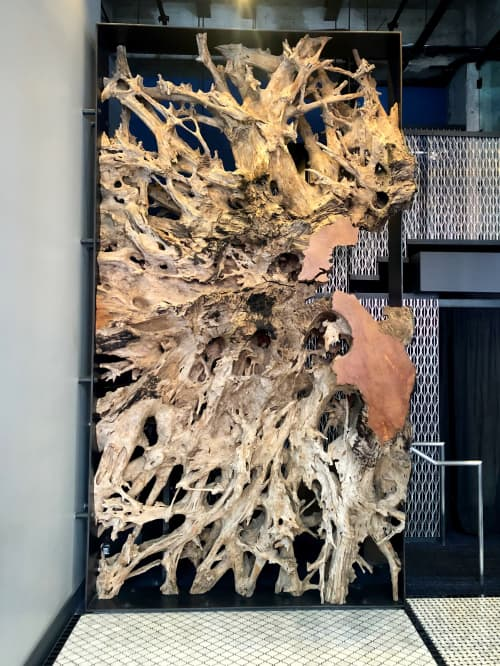 Sculptures by Lundberg Design at Mourad, San Francisco - Teak Root Sculpture