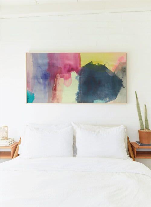 Paintings by maja dlugolecki seen at Creator's Studio, Los Angeles - as my mind wanders no. 01 - linen print