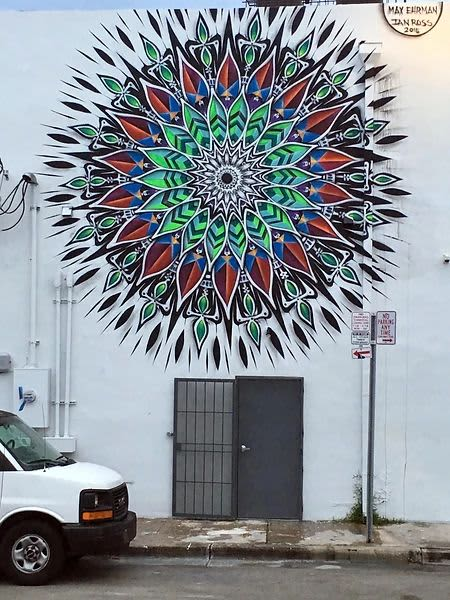Street Murals by Max Ehrman (Eon75) seen at Miami, Miami - Mandala