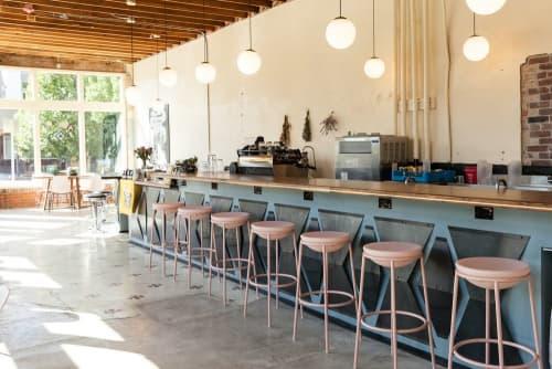 Furniture by Art Builders Guild at Amethyst Coffee- Broadway, Denver - Walnut Bar Top