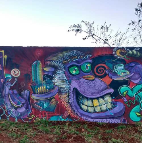 Street Murals by Léo Araújo seen at Cascavel - Street Art Mural