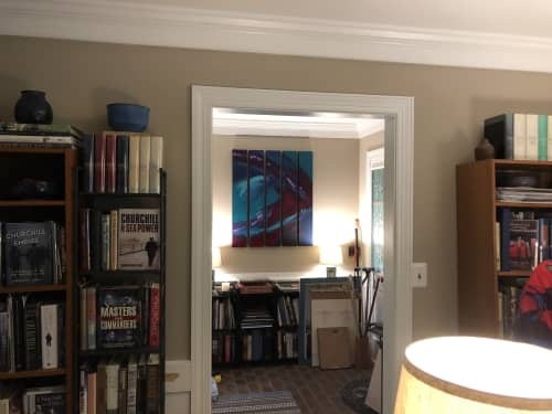 Paintings by Jen Sterling seen at Private Residence, Fredericksburg - Sterling Polyptych