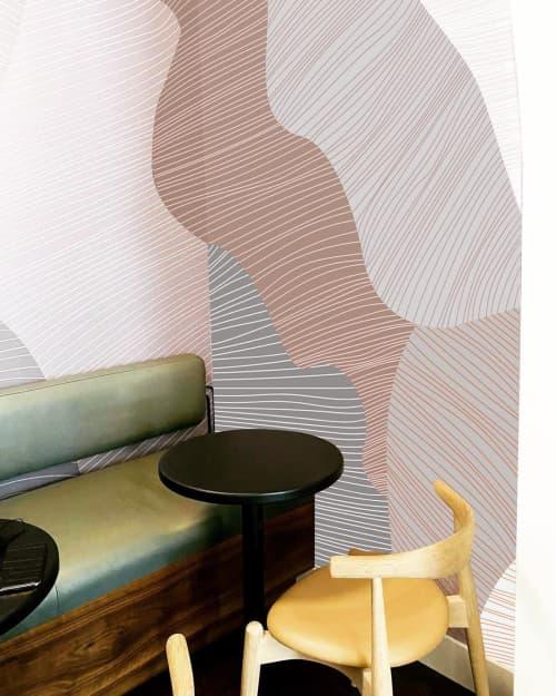 Wallpaper by Jill Malek Wallpaper at Hungryghostcoffee, Brooklyn - Reef in Cool Gray