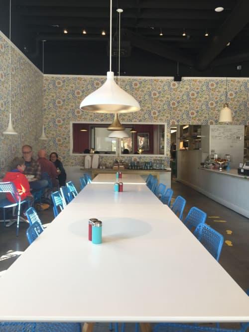 Wallpaper Eldblomman | Wallpaper by Svenskt Tenn | Stockhome Restaurant in Petaluma