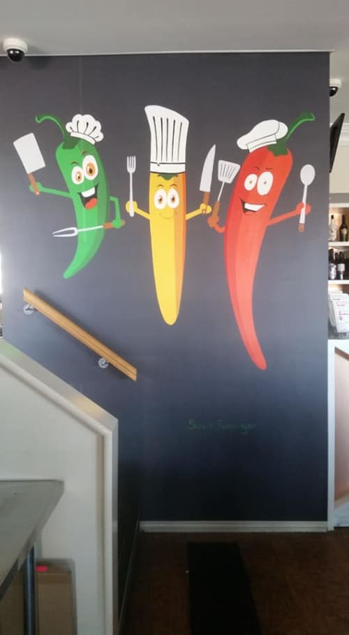 Chilli Chefs   Murals by Susan Respinger   Chilli Farms Indian Restaurant in Woodvale