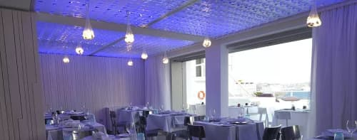 Lighting by Light in Space seen at Grace Mykonos, Agios Stefanos - Backlighting