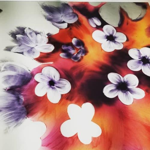 Glass Milkweed Flower | Paintings by Cara Enteles Studio