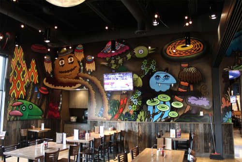 Mellow Mushroom New Albany | Murals by Rather Severe | Mellow Mushroom in New Albany