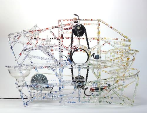 Sculptures by Bandhu Dunham seen at Sandwich Glass Museum, Sandwich - KYLE