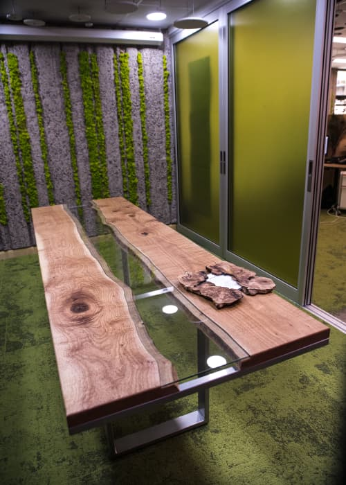 Silky Oak River-Conference Table | Tables by Lumberlust Designs | ASU - The Biomimicry Center in Tempe