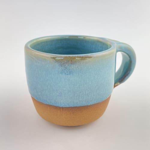 Turquoise Modern Coffee Mug | Cups by Tina Fossella Pottery