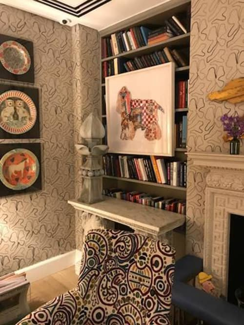 Artwork as part of Kit Kemp's permanent collection at The Whitby | Art & Wall Decor by Peter Clark Collage | The Whitby in New York