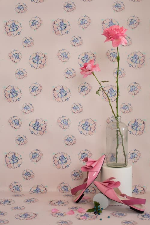 Phoebe Flower Pink Wallpaper | Wallpaper by Stevie Howell