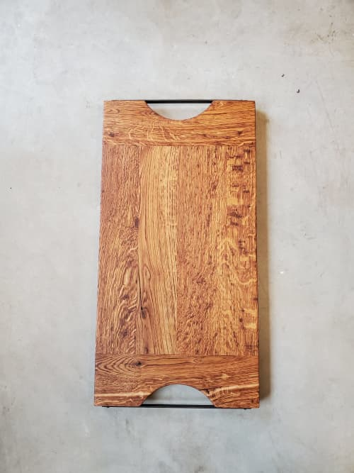 Normandy French Oak Charcuterie or Serving board   Tableware by Todd Alan Woodcraft