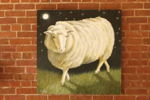 Paintings by Lora Shelley seen at Private Residence, New Paltz - Marin the Sheep by Lora Shelley