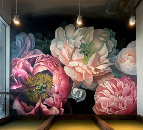 Bohemian Blooms Houston | Murals by Nicolette Atelier | Pinstripes in Houston