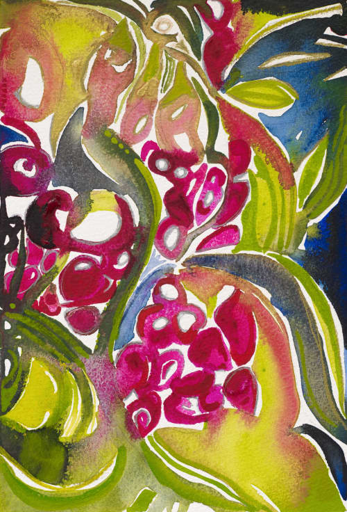 Paintings by ISA CATTO STUDIO - Fall Garden
