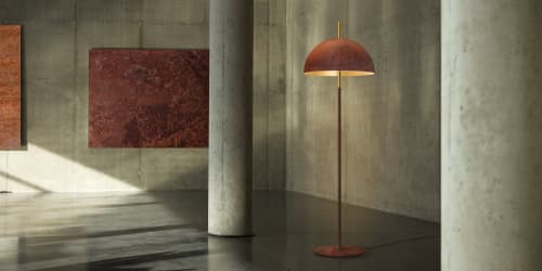 Lamps by Marie Burgos Design and Collection seen at Private Residence, New York - The Queen Floor Lamp