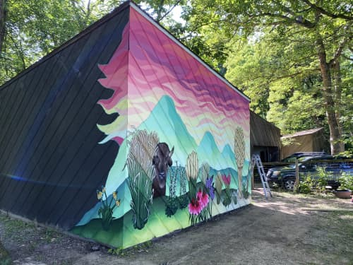 Across Iowa and Wyoming   Murals by Ali Hval
