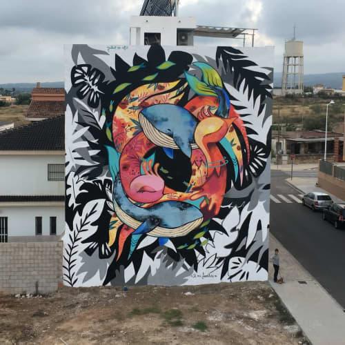 """""""Entre el mar y el cielo"""" / """"Between sea and sky """"   Street Murals by Julieta XLF"""