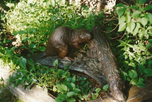 Beaver - Natural Engineer | Public Sculptures by Don Begg / Studio West Bronze Foundry & Art Gallery | Calgary in Calgary