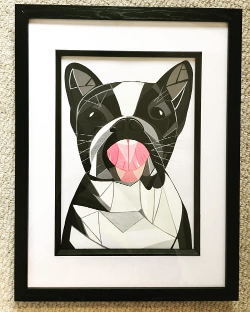 Commission - pet dog.   Paintings by Geo-Wild Designs (Mahayla Clayton)