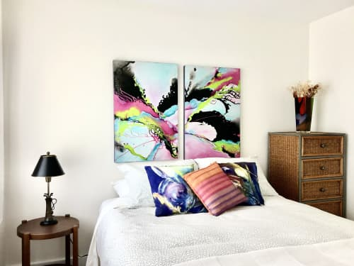 """""""Be Who Are, Not Who You Were"""" - 36""""x48""""   Paintings by Monika Wright"""