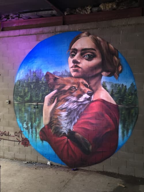Foxy Lady | Murals by Julia Morgan (Aerose Art) | Fox Street Compound in Denver