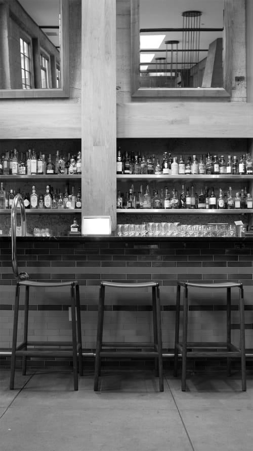 Bartlett Backless Bar Stools | Chairs by Fyrn | Foreign Cinema in San Francisco