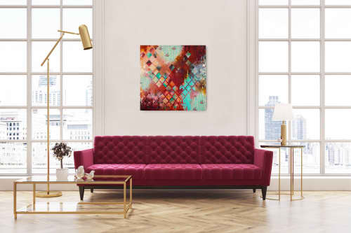 "Sentimental 36x36"" Original Painting | Paintings by Heather Robinson"