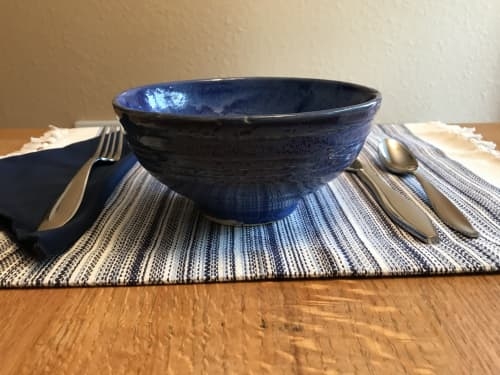 Tableware by Solana Beach Pottery seen at Private Residence, Tacoma - Speckled Blue Bowl