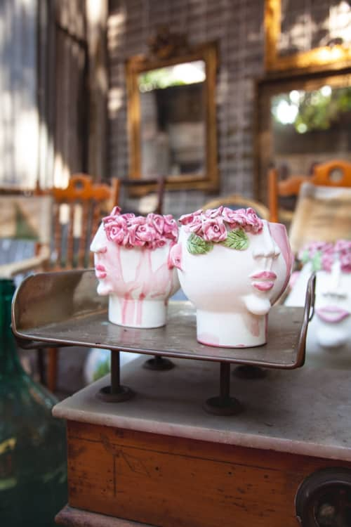 Vases & Vessels by Patrizia Italiano seen at Private Residence, Lipari - Young Mouth of Rose