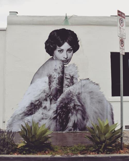 Sophia Loren II   Murals by Cheyenne Randall aka INDIANGIVER   Felix in Los Angeles
