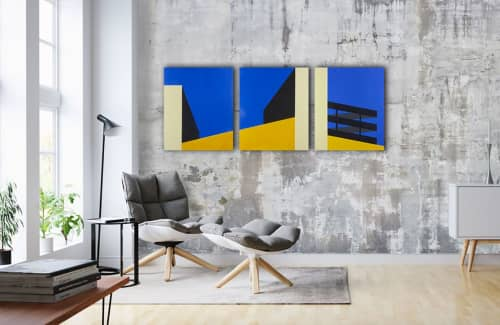 Paintings by Marco Domeniconi Studio seen at Private Residence, Brooklyn - Garage Park