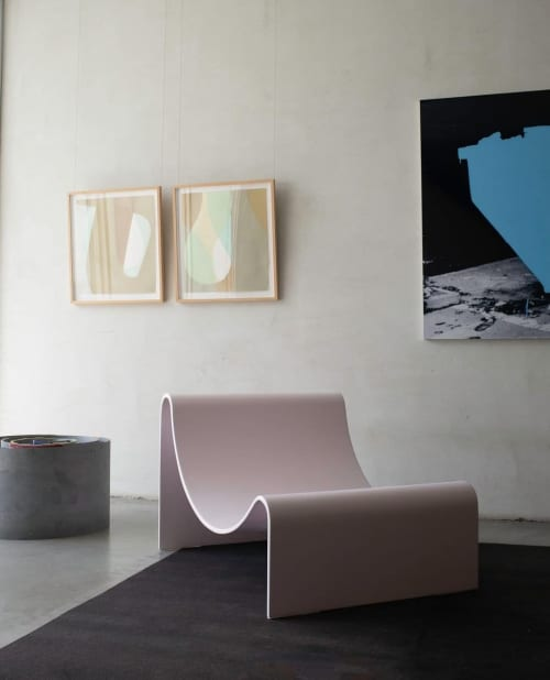 Benches & Ottomans by Asa Pingree seen at Private Residence, Brooklyn - Knockabout Lounge Chair