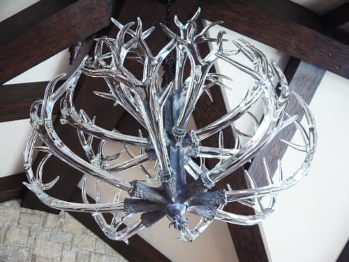 Chandeliers by LWSN seen at Private Residence, Aspen - The Double Tiered Crystal Antler Chandelier