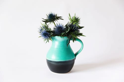 Weathered Bronze Pitcher | Tableware by Tina Fossella Pottery